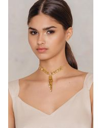NA-KD - Hanging Multileaves Necklace - Lyst