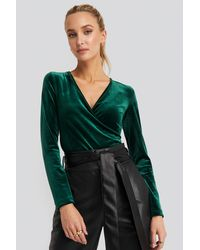 Trendyol - Double Breasted Collar Knitted Blouse - Lyst