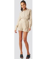 Trendyol Milla Striped Shorts - Natur