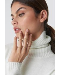 NA-KD Accessories Fine Stacking Rings - Mehrfarbig