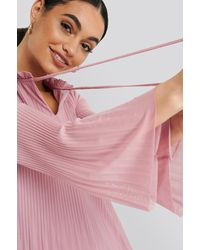 Trendyol Pleated Mini Dress - Roze