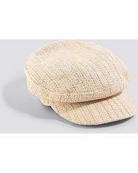 Mango Beige Capi Hat - Natural