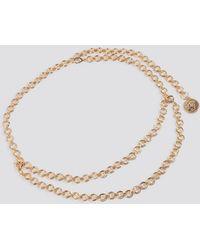 NA-KD Accessories Round Coin Pendant Chain Belt - Mettallic