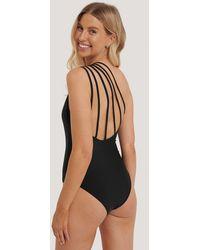 NA-KD Black Back Strap Swimsuit