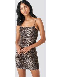 NA-KD Multicolor Leopard Spaghetti Strap Dress