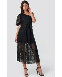 Trendyol Yol One Shoulder Dress - Schwarz