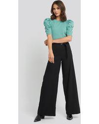 Trendyol Binding Detailed Pants - Schwarz