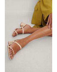 NA-KD Shoes Vierkante Riem Sandaal - Naturel