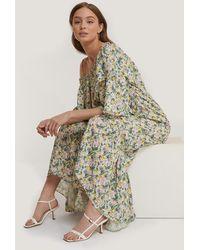 Mango Maxi-jurk Met Bloemenprint - Meerkleurig