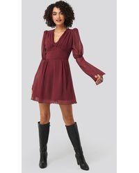 Trendyol Corsage Detailed Mini Dress - Rood