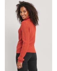 Rut&Circle Orange Tinelle Roll Knit - Red
