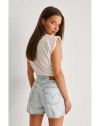 Levi's Levi's Kurze Hose Mit Hochgeschnittener Taille - Blau