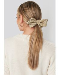 NA-KD - Floral Lines Hair Clip Beige - Lyst