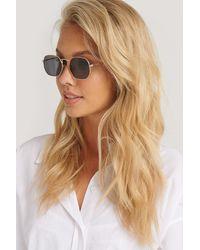 NA-KD Octagon Frame Sunglasses - Zwart