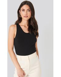 Mango Black Basic Top