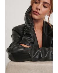 NA-KD Lange Basic Handschoenen - Zwart