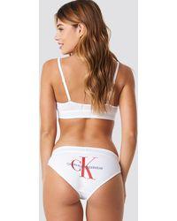 Calvin Klein Monogram Bikini Panties Bp - Wit
