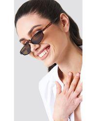 NA-KD - Retro Bridge Sunglasses Brown - Lyst