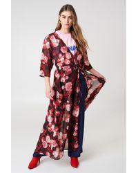 NA-KD Chiffon Coat Dress Red