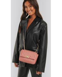 NA-KD Quilted Chain Strap Bag Pink
