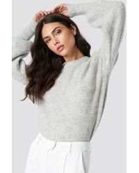 NA-KD - Trend Alpaca Wool Blend Balloon Sleeve Sweater - Lyst