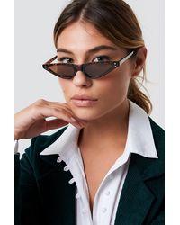 NA-KD Small Cat Eye Sunglasses Brown