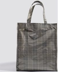 Mango - Check Shopper Bag - Lyst