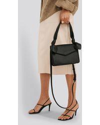 NA-KD Black Knot Envelope Crossbody Bag