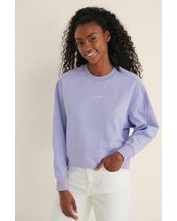 Calvin Klein Organic Micro Branding Sweatshirt - Paars