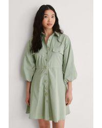 Trendyol Hemd-Minikleid - Grün
