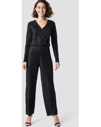 Rut&Circle Pleated Jumpsuit Black