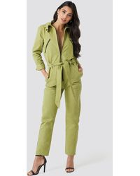 NA-KD Utility Jumpsuit - Groen