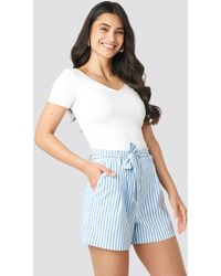 NA-KD - Striped Tied Waist Shorts - Lyst