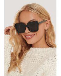 NA-KD Accessories Oversize Retro-Sonnenbrille Mit Eckiger Fassung - Schwarz