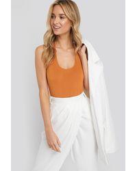 NA-KD Halterneck Bodysuit - Oranje