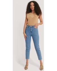 Trendyol Mom Jeans Met Hoge Taille - Blauw