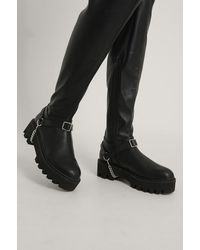 NA-KD Black Drop Chain Boot Anklets