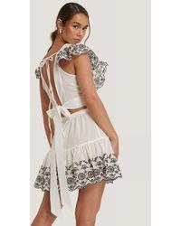 Trendyol Embroidered Summer Set - Weiß
