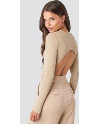 NA-KD - Open Back Bodysuit - Lyst