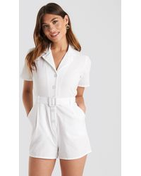 NA-KD - Belted Playsuit - Lyst