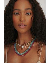 NA-KD Accessories Farbige Beschichtete Halskette - Mehrfarbig