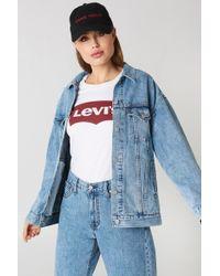 Levi's - Baggy Trucker Jacket Med Indigo - Lyst