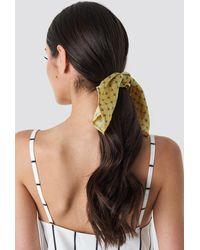 NA-KD Yellow Patterned Knot Scrunchie - Jaune