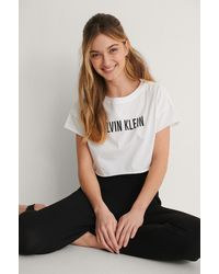 Calvin Klein - Cropped Top - Lyst