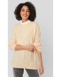 Trendyol Cycling Collar Knitted Sweater - Geel