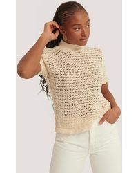 Mango Beige Piaf Top - Natural