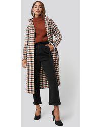 Trendyol Houndstooth Patterned Wool Coat - Meerkleurig