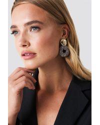 NA-KD - Wrapped Hanging Hoop Earrings - Lyst