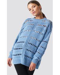 Mango - Open Work-detail Sweater - Lyst