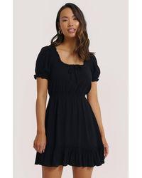 NA-KD - Boho Puff Sleeve Mini Dress - Lyst